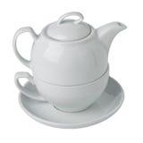 Teapot and tea cup set Stock Photo