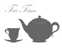 Teapot and tea cup Royalty Free Stock Images