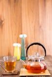 Teapot with  tea cup Stock Photo