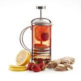 Teapot with tea stock photo