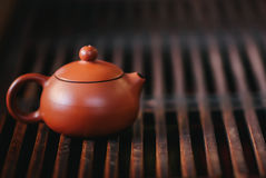 The teapot is on the tea table Stock Photos