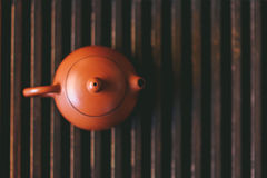 The teapot is on the tea table Royalty Free Stock Images