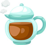 Teapot of tea vector Stock Images