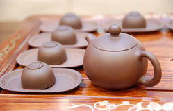 Teapot and teacup Stock Images