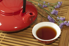 Teapot and teacup Royalty Free Stock Images