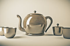 Teapot and teacup Royalty Free Stock Image
