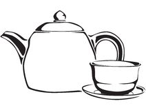 Teapot and teacup Stock Photos