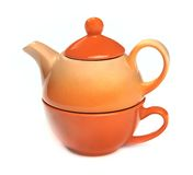Teapot on the teacup Stock Photography