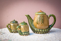 Teapot and teacups Royalty Free Stock Photo