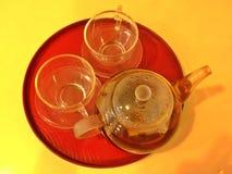 Teapot and teacups Stock Photography