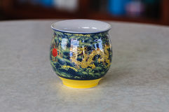 Teapot. Thai teapot, Chinese teapot on table in northern Thailand Royalty Free Stock Photos