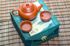 Teapot and two cups Royalty Free Stock Images