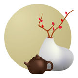 Teapot and vase Royalty Free Stock Photo