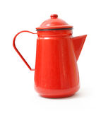 Teapot vermelho fotos de stock