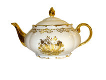 Teapot on a white background Stock Images