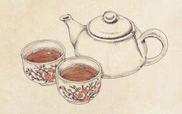 Teapot z herbatą Obrazy Royalty Free