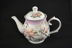 Teapot z kwiatami Obraz Royalty Free