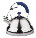 Teapotrostfritt stål med visslingen Arkivfoton