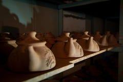 Teapots αργίλου αποθήκευση Στοκ Εικόνες