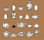 Teapots Fotografia de Stock