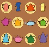 Teapots Fotografia Stock