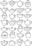 teapots Arkivfoto