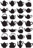 teapots Arkivbilder