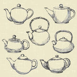 Teapots antique Royalty Free Stock Photography