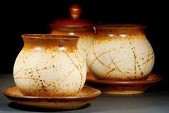 Teapots cerâmicos Foto de Stock