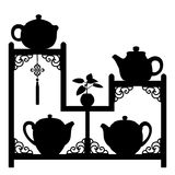 Teapots collection Royalty Free Stock Image