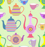 Teapots e copos Imagens de Stock