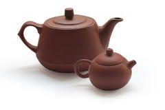 teapots för lerafiltertea Royaltyfri Foto