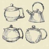 Teapots modern Stock Photo
