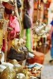 Teapots on Moroccan market in Marrakech, Morocco Stock Photos