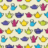 Teapots Seamless Background Stock Photos