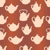 Teapots seamless pattern Royalty Free Stock Photography