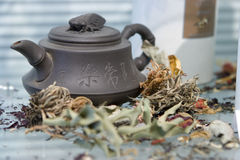 Teapots and tea Royalty Free Stock Photography
