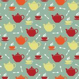 Teapots and teacups Royalty Free Stock Image