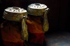 Teapots tibetanos imagens de stock