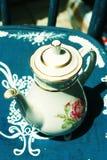 teapotwhite Royaltyfri Foto
