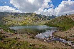 Tear湖,七个Rila湖,保加利亚的风景 免版税库存图片