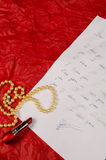 Tear drenched love letter Royalty Free Stock Photography