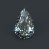 Tear drop shaped diamond isolated Royalty Free Stock Images