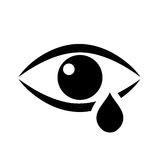 Tear eye vector icon Stock Images