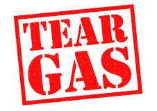 TEAR GAS. Red Rubber stamp over a white background Royalty Free Stock Photos