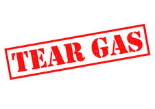 TEAR GAS. Red Rubber Stamp over a white background Stock Photography