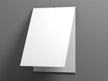 Tear off calendar 3d rendering. Blank white tear off calendar 3d rendering Stock Photos