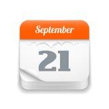 Tear-off calendar icon Stock Image