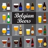 Belgian Beers Royalty Free Stock Photo