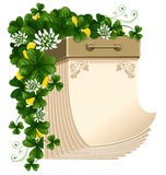 Tear-off calendar, Saint Patrick's Day Stock Images